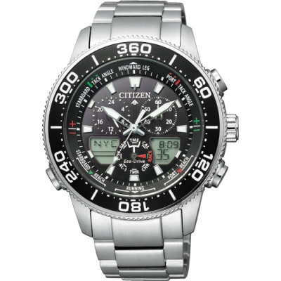 CITIZEN 星辰 PROMASTER 限量光動能萬年曆手錶 JR4060-88E