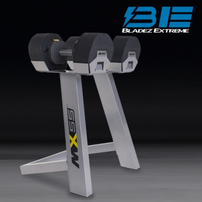 【BE】MX55 可調式啞鈴對組-單邊24.9KG(含啞鈴架)