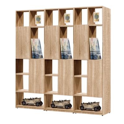 文創集 威爾比6尺多層格雙面櫃/玄關櫃(二色可選)-180x30x180cm免組