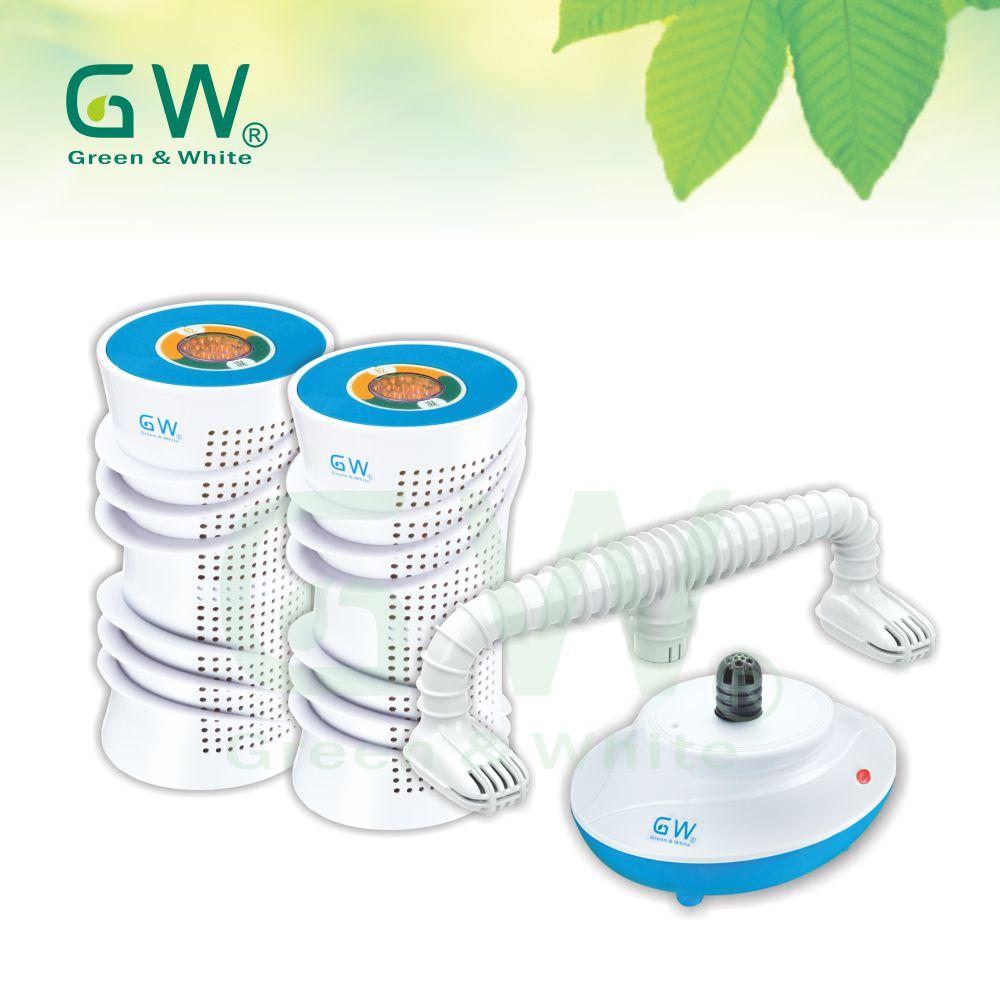 GW 水玻璃 直筒分離式除濕機4件組(水藍)