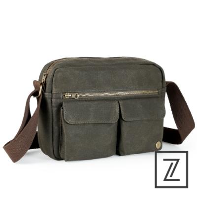 74盎司 Canvas 油蠟帆布側背包[G-1078-CA-M]綠
