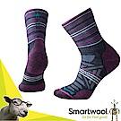 美國 SmartWool 美麗諾羊毛 女 輕量避震印花中筒襪(2入)_深海軍藍