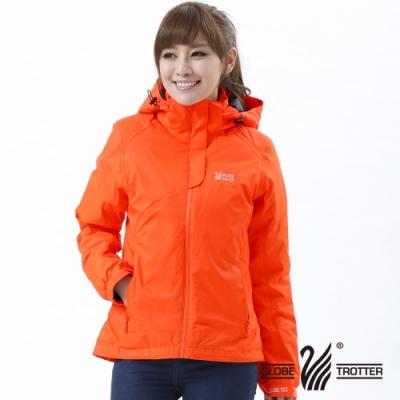 【遊遍天下】Globetex女款JIS90%羽絨防風防水羽絨外套A001桔色