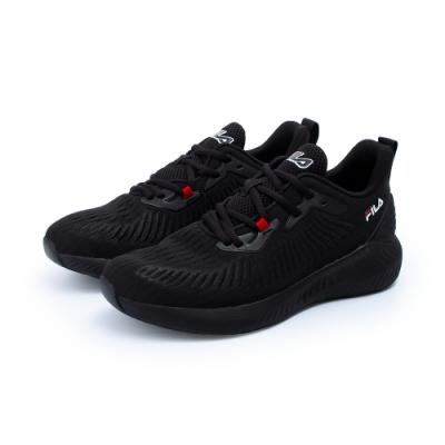 【FILA】SHADOW WALKER 慢跑鞋 男鞋-黑(1-J914U-000)