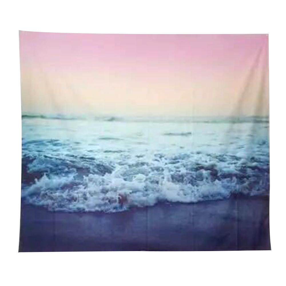 半島良品 北歐風裝飾掛布-落日海浪125x145cm