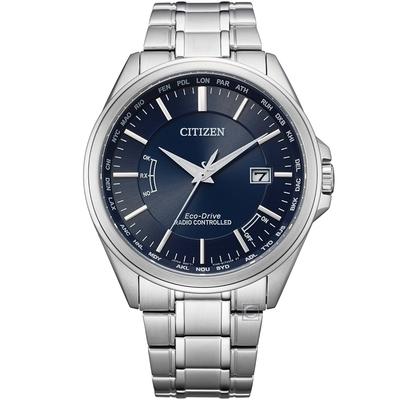 CITIZEN 星辰 GENT S 城市時尚光動能電波錶(CB0250-84L)43.3mm