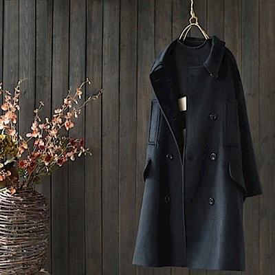 寬鬆羊毛毛呢外套加厚呢子大衣/設計所在Y3197