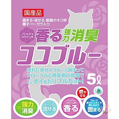 藤浦 椰殼活性碳變色紙砂 (粉色-花香) 5L 兩包組