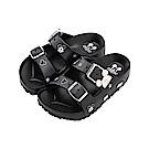 迪士尼童鞋 米奇 造型帶扣防水拖鞋-黑