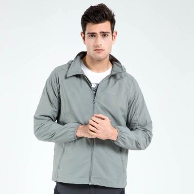 【St. Bonalt 聖伯納】男款單色超輕透防曬外套 (7011-淺灰) 抗UV 防曬 防風 防潑水 輕薄 透氣