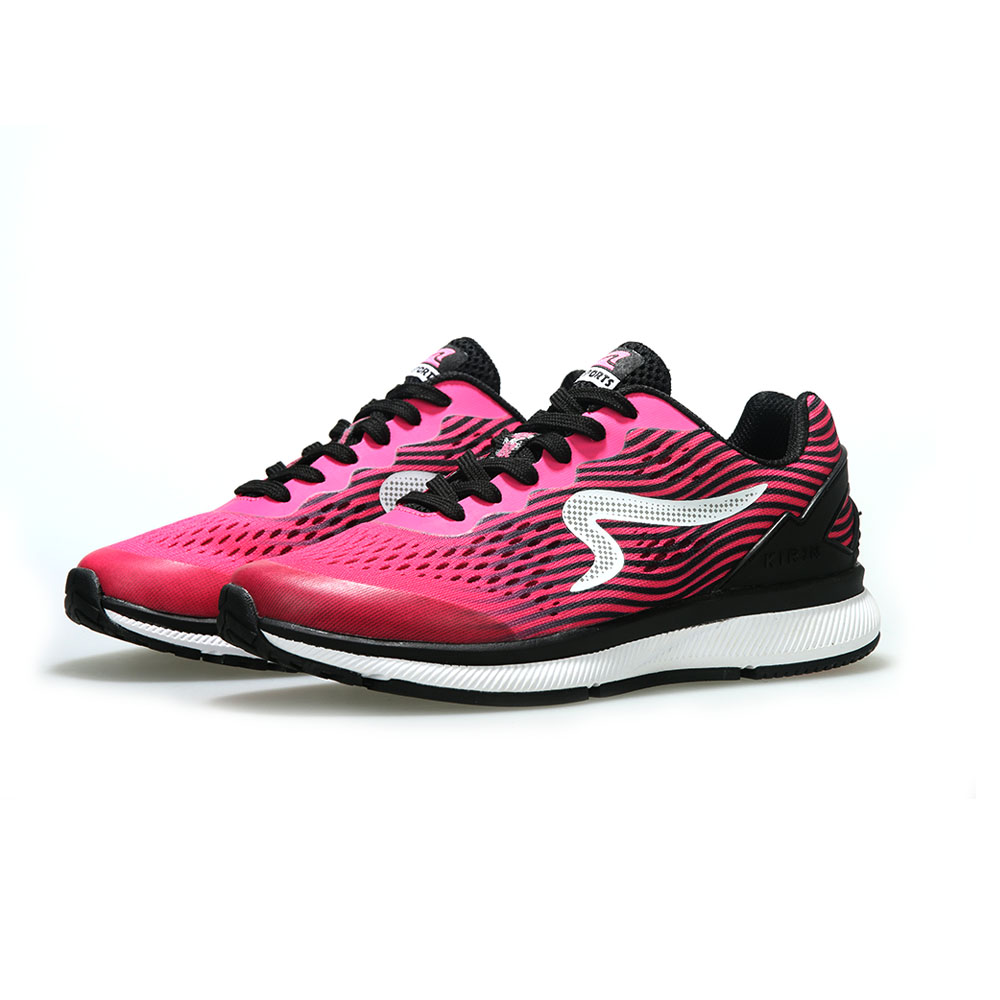 【ZEPRO】女子KIRIN系列減震耐磨運動跑鞋-艷桃紅