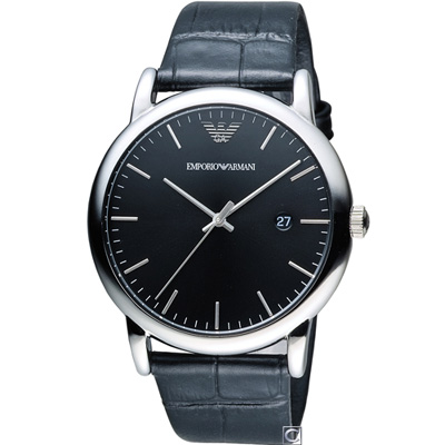 EMPORIO ARMANI Classic英倫簡約風時尚腕錶(AR2500)黑/43mm