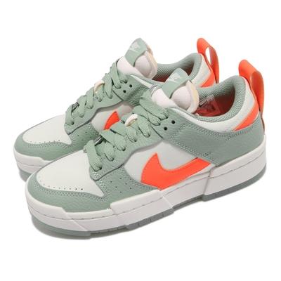 Nike 休閒鞋 Dunk Low Disrupt 女鞋 基本款 解構 舒適 簡約 球鞋 穿搭 綠 橘 DJ3077001