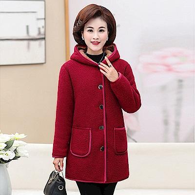 加絨刷毛保暖外套-XL~5XL(共五色)-理子時尚