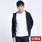 EDWIN EFS短版運動連帽外套-男-黑色