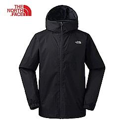 The North Face北面男款黑色防風連衣外套