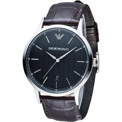 Emporio Armani Classic 都會簡約時尚腕錶(AR2480)43mm