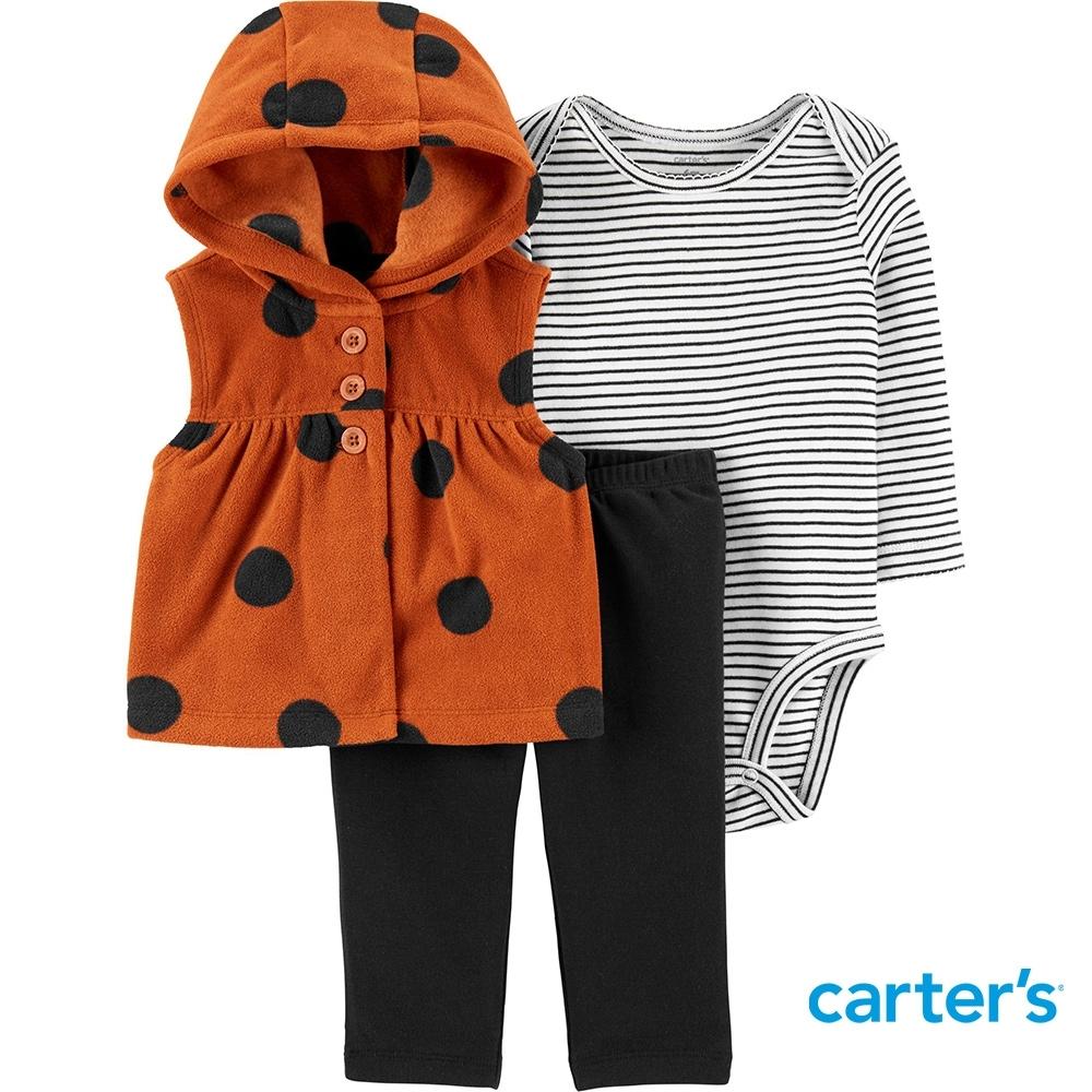 【Carter's】條紋點點3件組套裝(12M-24M) (背心/長褲) (台灣總代理)