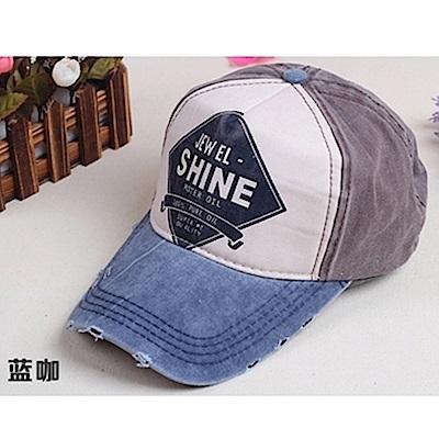 Midailuo韓版新潮美式街頭風牛仔磨破帽(Shine字樣)
