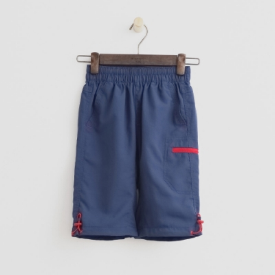 Hang Ten -童裝 - ThermoContro-防水機能logo束口短褲-藍