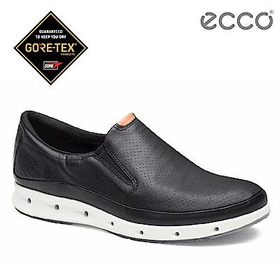 ECCO COOL 360度環繞防水休閒懶人鞋-黑