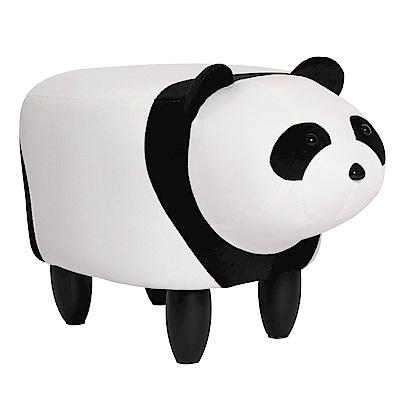 IDEA-超萌Q版熊貓實木短腿椅凳