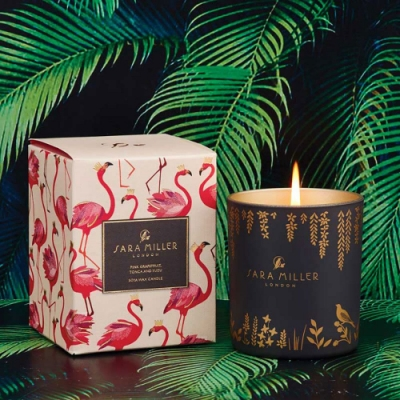 SARA MILLER 英國品牌 葡萄柚/柚子/零陵香豆 香氛大豆蠟燭240g