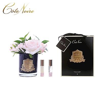 法國 CoteNoire 蔻特蘭 維多利亞粉白玫瑰香氛花黑瓶
