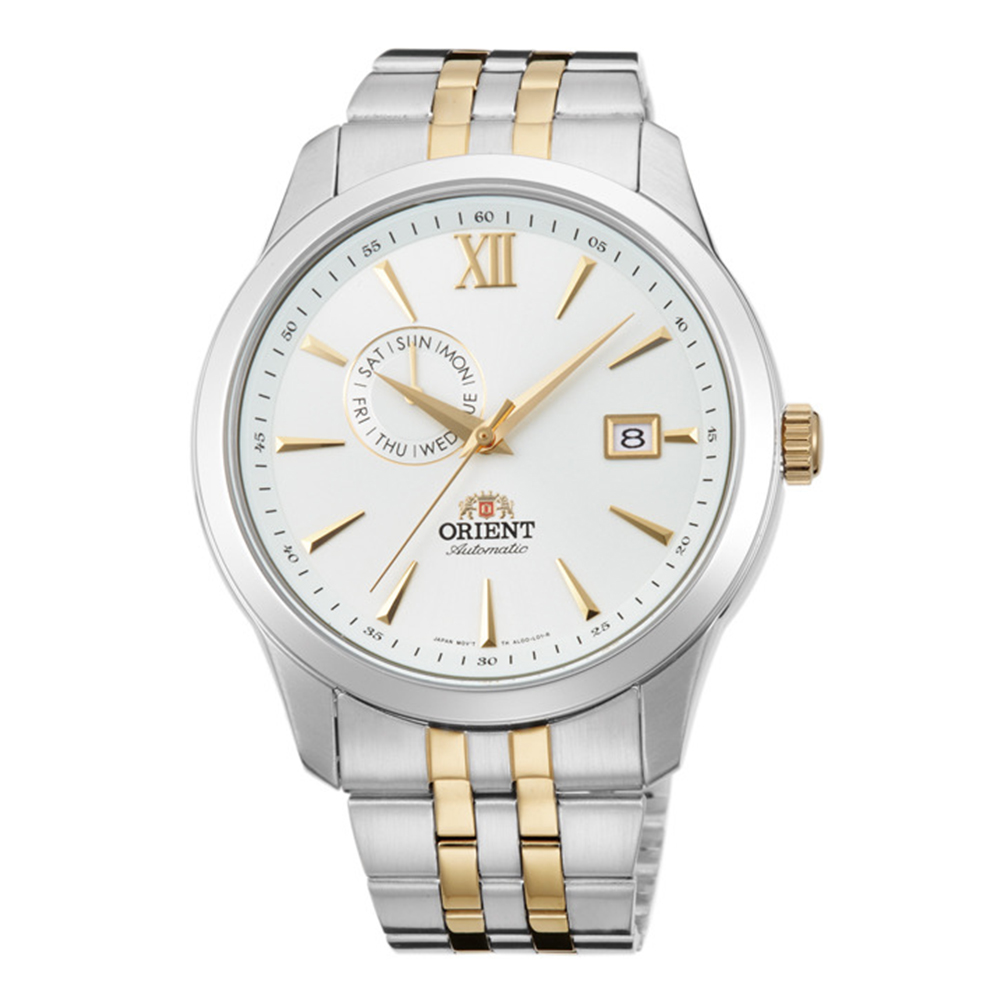 ORIENT 流轉歲月鏤空錶背機械男錶(FAL00001W0)-白/43mm