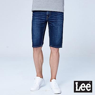 Lee 牛仔短褲-水洗藍