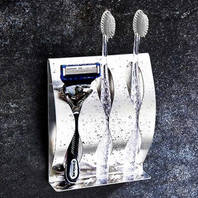 JIAGO 免釘無痕不鏽鋼牙刷架