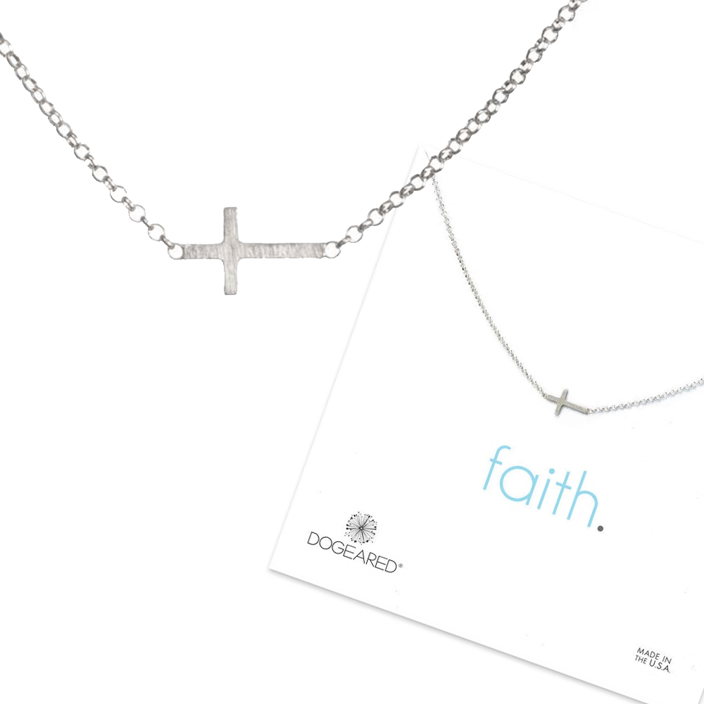 Dogeared 許願銀項鍊 信念十字架 Faith Small Cross 附原廠盒