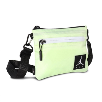 Nike 斜背包 AJ Shoulder Bag 男女款 喬丹 飛人 外出 輕便 小包 綠 黑 JD2123011GS003