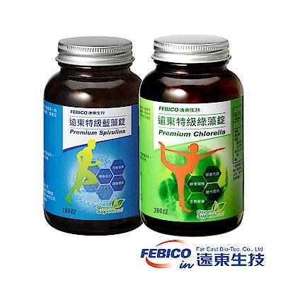 遠東生技 特級藍藻500mg(180錠/瓶)*1+特級綠藻500mg(360錠/瓶)*1