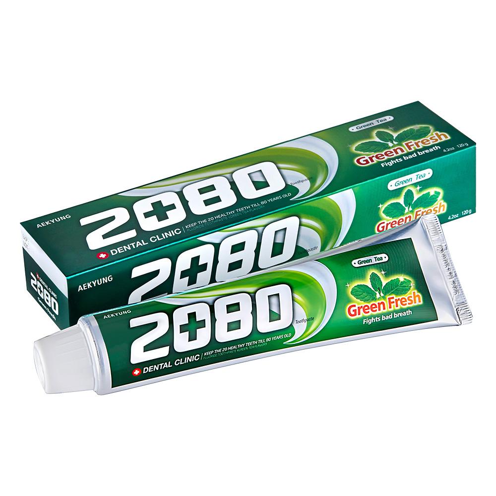 韓國2080 綠茶清新護齦牙膏80gX2入