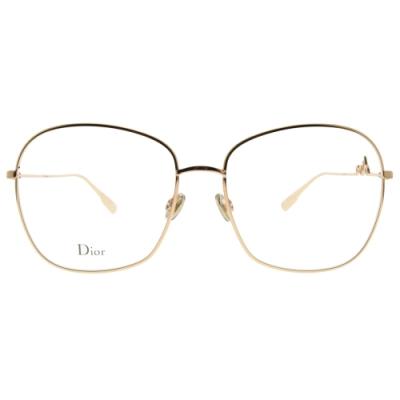 DIOR光學眼鏡  時尚大方框款/玫瑰金 #SIGNATURE O3 DDB