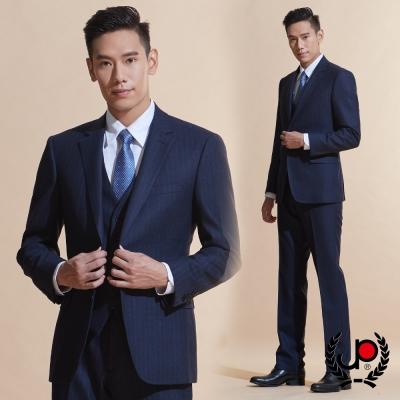 極品西服 修身版舒適混紡西裝外套_丈青直條紋(AW605-3H)