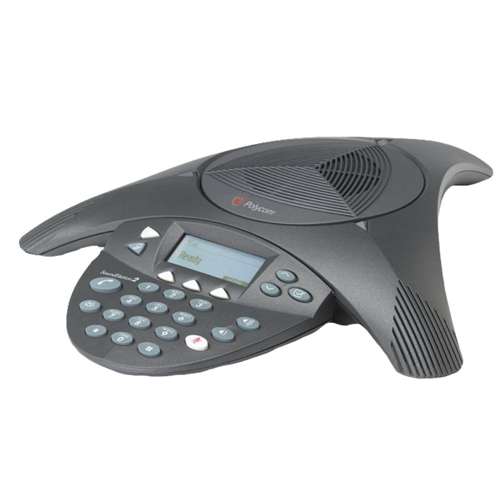 Polycom SoundStation2 (有LCD/不可擴充)語音會議話機