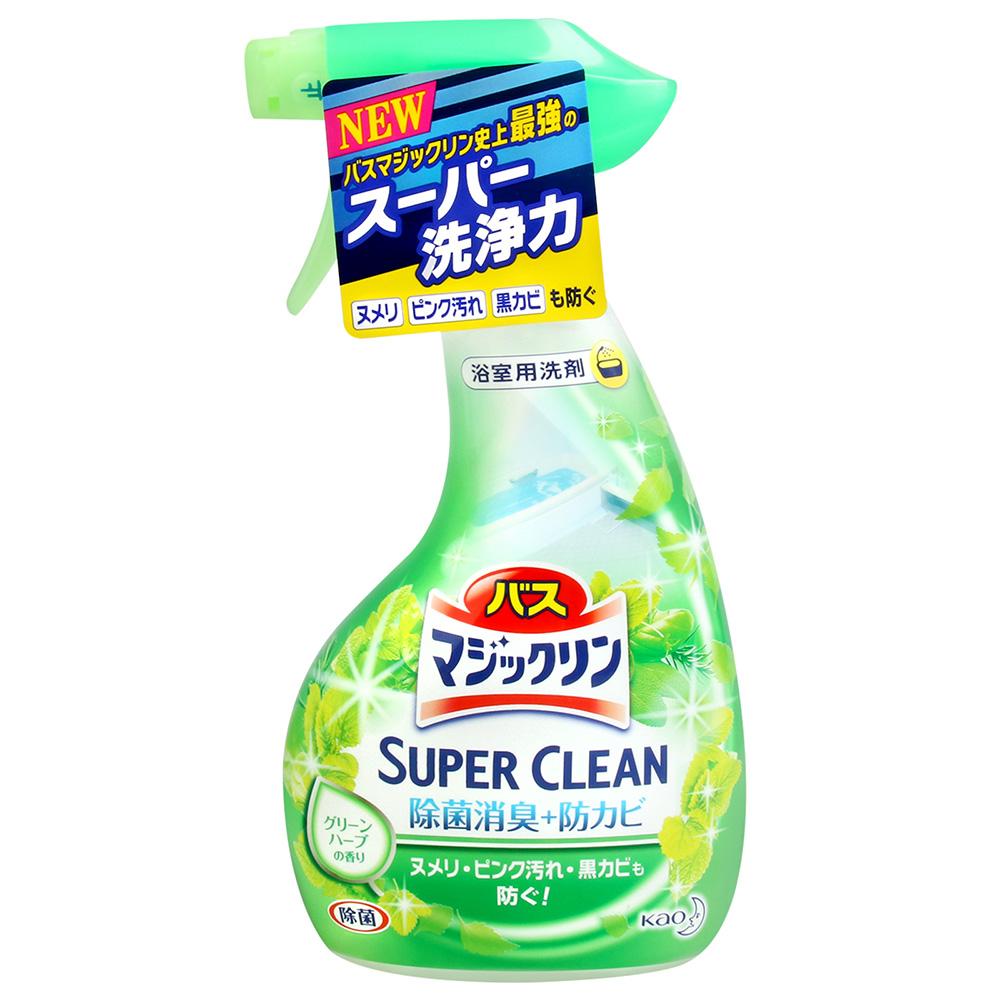 花王 Magiclean浴室泡沫清潔劑-綠色香草香氛(380ml)