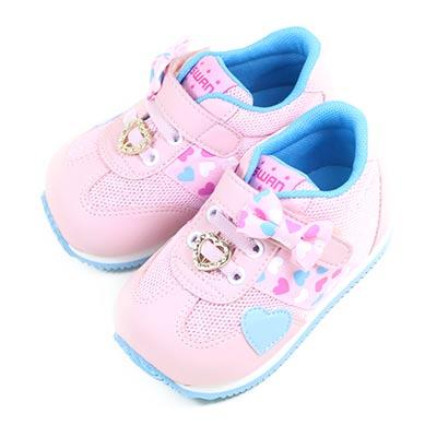 Swan天鵝童鞋--甜美愛心小童機能學步鞋 1566-粉