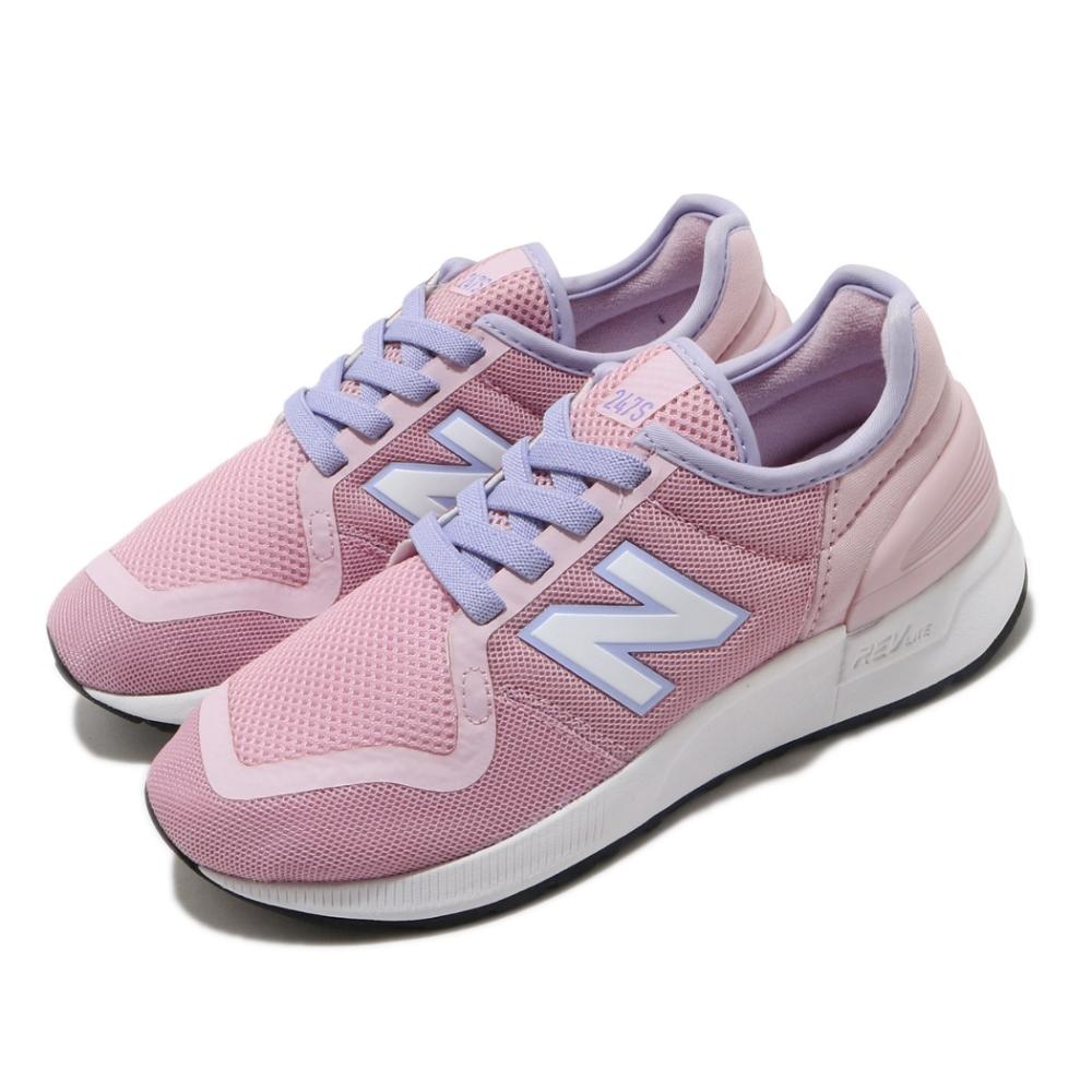 New Balance 休閒鞋 YH247SJ3 W 寬楦 女鞋 紐巴倫 基本款 簡約 舒適 穿搭 中大童 粉 紫 YH247SJ3W