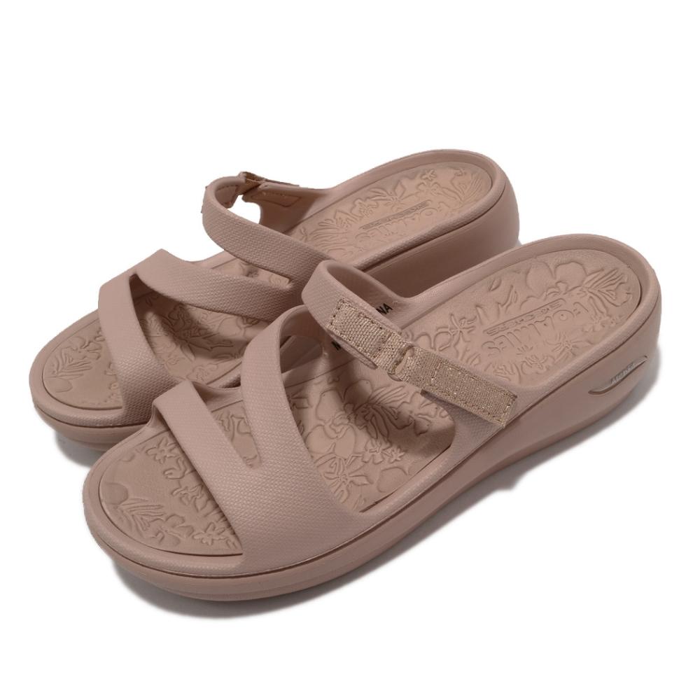 Skechers 拖鞋 Arch Fit Ascend 女鞋 避震 緩衝 回彈 穩定 厚底 夏日 粉 金 111232ROS