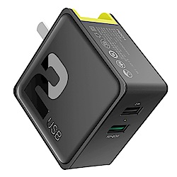 ROCK 蘋果PD快充 速充 iPhone充電器 雙口充電插頭 旅充 QC3.0