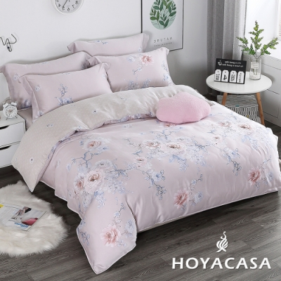HOYACASA花恬記憶 加大四件式抗菌60支天絲兩用被床包組