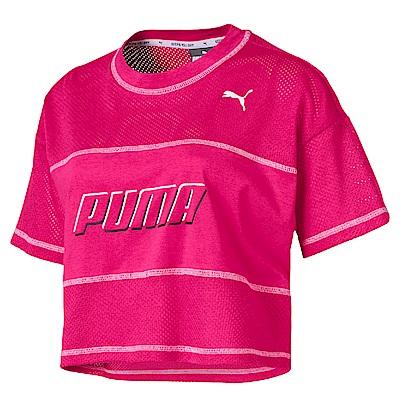 PUMA-女性基本系列Modern Sports短版短袖T恤-洋桃紅-亞規