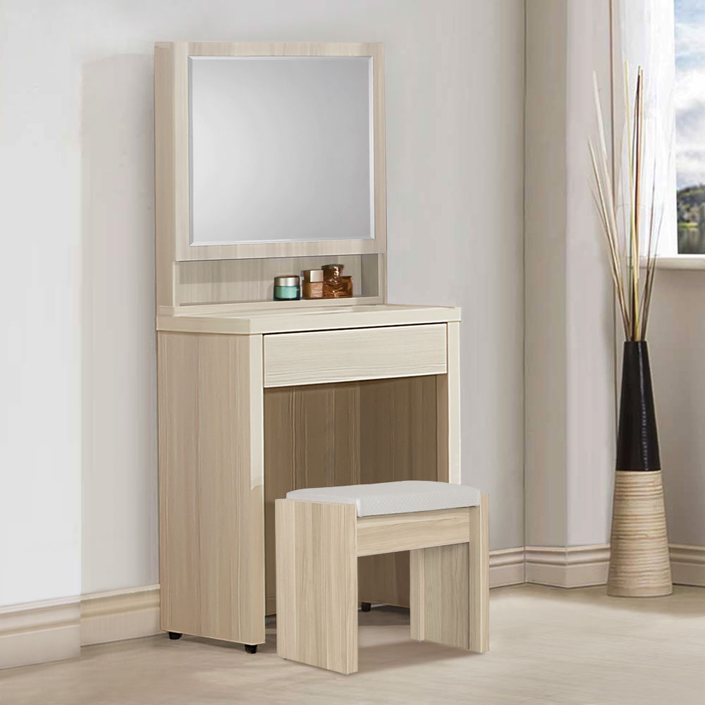 Homelike 米緹2尺化妝桌椅-61x41x145cm