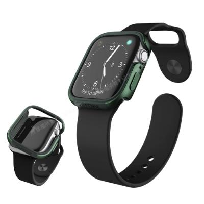 刀鋒Edge系列 Apple Watch Series 6/SE (44mm) 鋁合金雙料保護殼 保護邊框(夜幕綠)