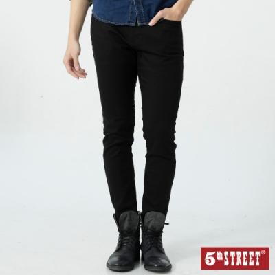 5th STREET 街霸基本款 窄管休閒褲-男-黑色