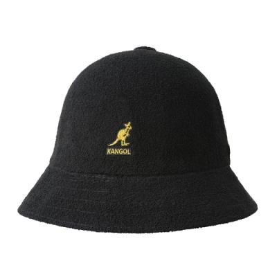 KANGOL-BERMUDA 鐘型帽 - 黑色金LOGO
