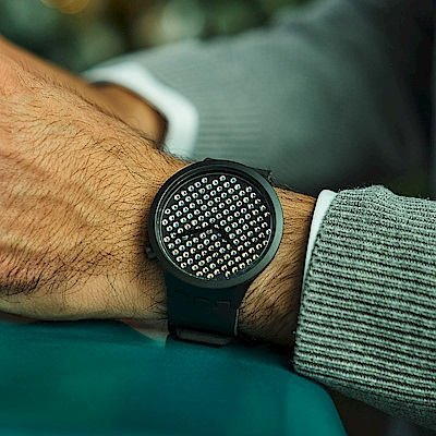 Swatch BIG BOLD系列手錶 DARK BOREAL - 47mm